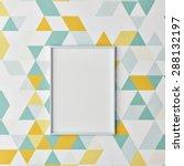 mock up poster on hipster... | Shutterstock . vector #288132197