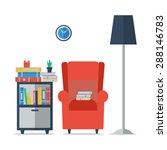 i love reading. room interior... | Shutterstock .eps vector #288146783