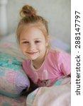 a little sweet smiling girl  in ...   Shutterstock . vector #288147797