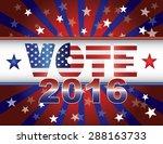 vote presidential election 2016 ... | Shutterstock .eps vector #288163733
