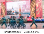 parade on red square in moscow... | Shutterstock . vector #288165143
