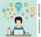 programmer and process coding... | Shutterstock .eps vector #288165233