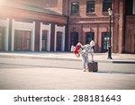 little kid is holding the... | Shutterstock . vector #288181643
