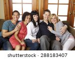 group of attractive  diverse... | Shutterstock . vector #288183407