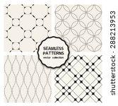 vector set of four seamless... | Shutterstock .eps vector #288213953