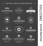 retro logotypes set vector... | Shutterstock .eps vector #288227333