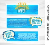 set of horizontal banners with... | Shutterstock .eps vector #288228107