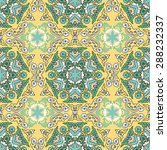 seamless pattern ethnic style....   Shutterstock .eps vector #288232337