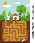 maze game | Shutterstock .eps vector #288239807