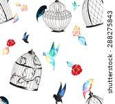 vintage seamless pattern of... | Shutterstock . vector #288275843