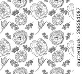 briar rose sketch seamless... | Shutterstock .eps vector #288281087