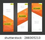 abstract banner line design .... | Shutterstock .eps vector #288305213