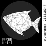 abstract polygonal fish. low... | Shutterstock .eps vector #288318347