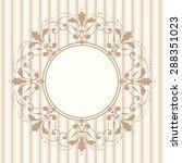 decorative vintage frame.... | Shutterstock .eps vector #288351023