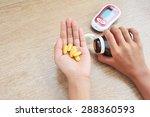 hands hold medicine.   Shutterstock . vector #288360593