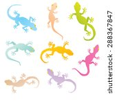 Vector Image Of An Gecko On...