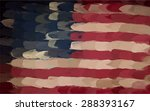american flag painted oval...