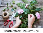 florist at work. woman making... | Shutterstock . vector #288394373