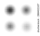 set of circles with halftone...   Shutterstock .eps vector #288402107
