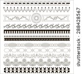 set of vintage borders.  vector ... | Shutterstock .eps vector #288428567