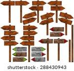 set of directional wooden signs ... | Shutterstock . vector #288430943