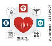 medical design over white... | Shutterstock .eps vector #288439307