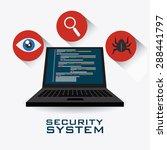 security system design over... | Shutterstock .eps vector #288441797