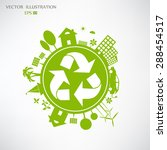 environmentally friendly world. ... | Shutterstock .eps vector #288454517