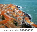 Top View Of Cefalu Old Town...