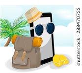 smartphone mobile travel  vector | Shutterstock .eps vector #288470723