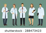 five white or caucasian doctors ... | Shutterstock .eps vector #288473423