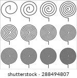 spiral torsion springs | Shutterstock .eps vector #288494807