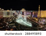 Stock photo las vegas usa july fountain show at bellagio hotel and casino on july in las 288495893