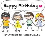 happy birthday | Shutterstock .eps vector #288508157