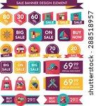 travel sale banner design flat... | Shutterstock . vector #288518957