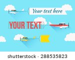 flying planes set with the... | Shutterstock .eps vector #288535823