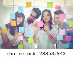 young creative business people... | Shutterstock . vector #288535943