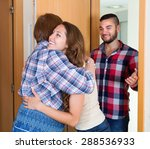 adult children came to visit... | Shutterstock . vector #288536933