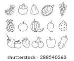 fruit freehand  | Shutterstock .eps vector #288540263