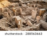 Small photo of Gobekli Tepe is an archaeological site at the top of a mountain ridge in the Southeastern Anatolia Region of Turkey.
