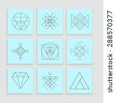 set of geometric shapes. trendy ... | Shutterstock .eps vector #288570377