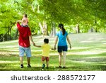 boys with family in the summer... | Shutterstock . vector #288572177