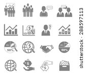 vector icon set business and... | Shutterstock .eps vector #288597113