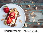 dark rye bread topped with... | Shutterstock . vector #288619637