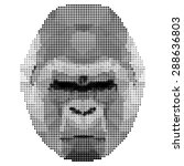 Abstract Monochrome Gorilla...