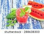 watermelon and cucumber... | Shutterstock . vector #288638303