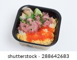 Was Placed Sashimi Rice...