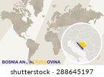 zoom on bosnia and herzegovina... | Shutterstock .eps vector #288645197