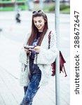 young fashion woman... | Shutterstock . vector #288672647