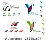abstract company logo... | Shutterstock . vector #288681677